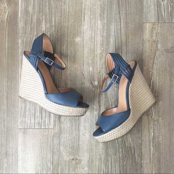 86c3f8ec05b Nine West Navy Espadrille Wedge